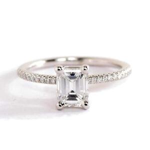 1-00CT-Vs2-H-Corte-Esmeralda-Frances-Diamante-Pave-Anillo-de-Compromiso
