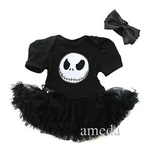 Baby nightmare before christmas jack party dress tutu bodysuit romper