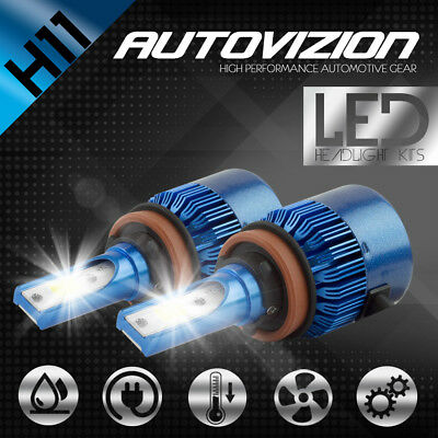 Protekz LED Headlight Conversion Bulbs kit H11 6000K for 2003-2009 Lexus GX470