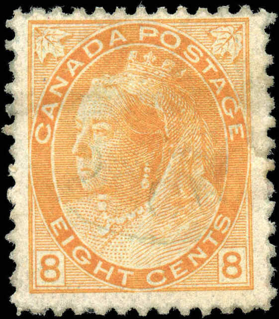 Used Canada 1899 8c F Scott #82 Queen Victoria Numeral Issue Stamp