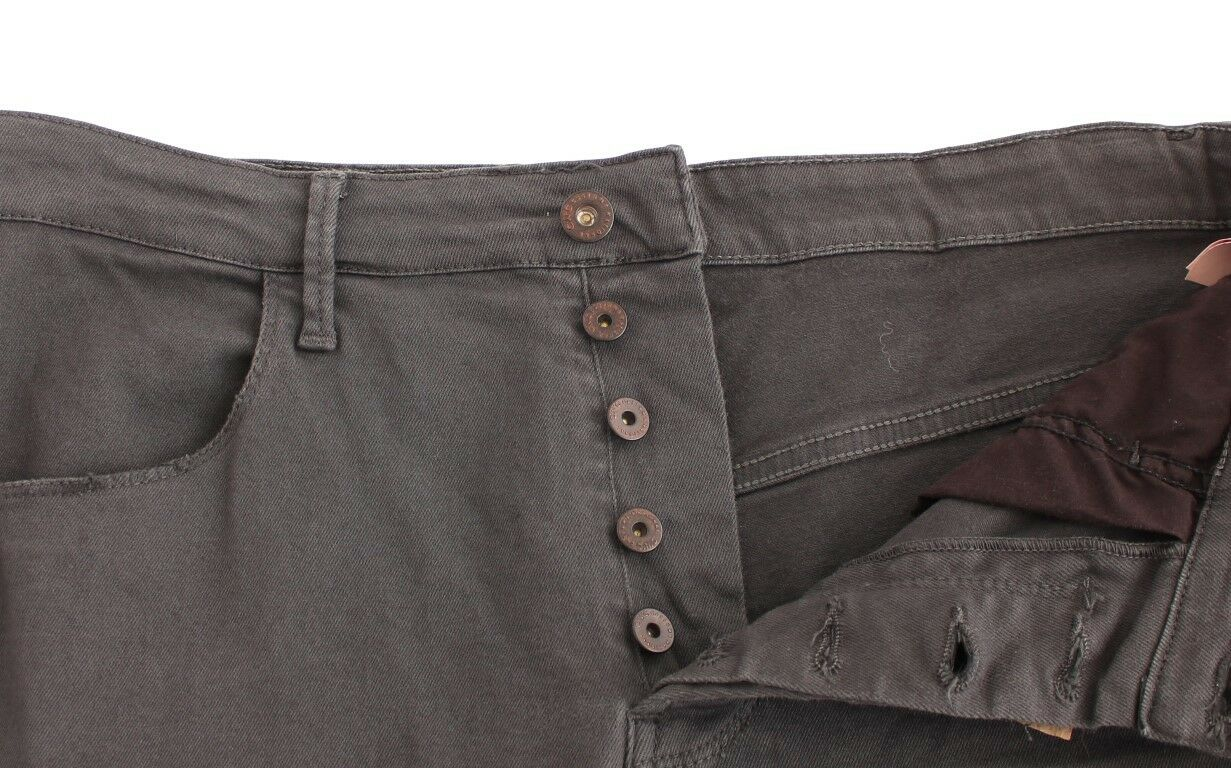 W34 NEW $340 COSTUME NATIONAL C/'N/'C Gray Cotton Stretch Slim Fit Jeans Pants s