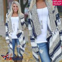 Womens Ladies Knitted Open Cardigan Jumpers Long Sleeve Shawl Sweater Coat Tops