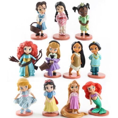 PVC Figure Figuras Muñeca Muñecas Nuevo Disney Princess lotes Blanco Base Set 11 un