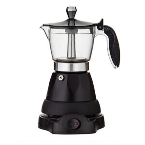 Leaf & Bean Electric 3 Cup Espresso Maker Black Brand New