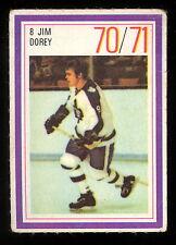 1970-71 ESSO POWER PLAYERS NHL #8 JIM DOREY EX TORONTO MAPLE LEAFS UNUSED STAMP