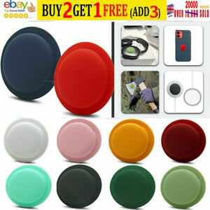 For Apple AirTag Silicone Case Sleeve Cover Back Adhesive Mount AirTags Tracker