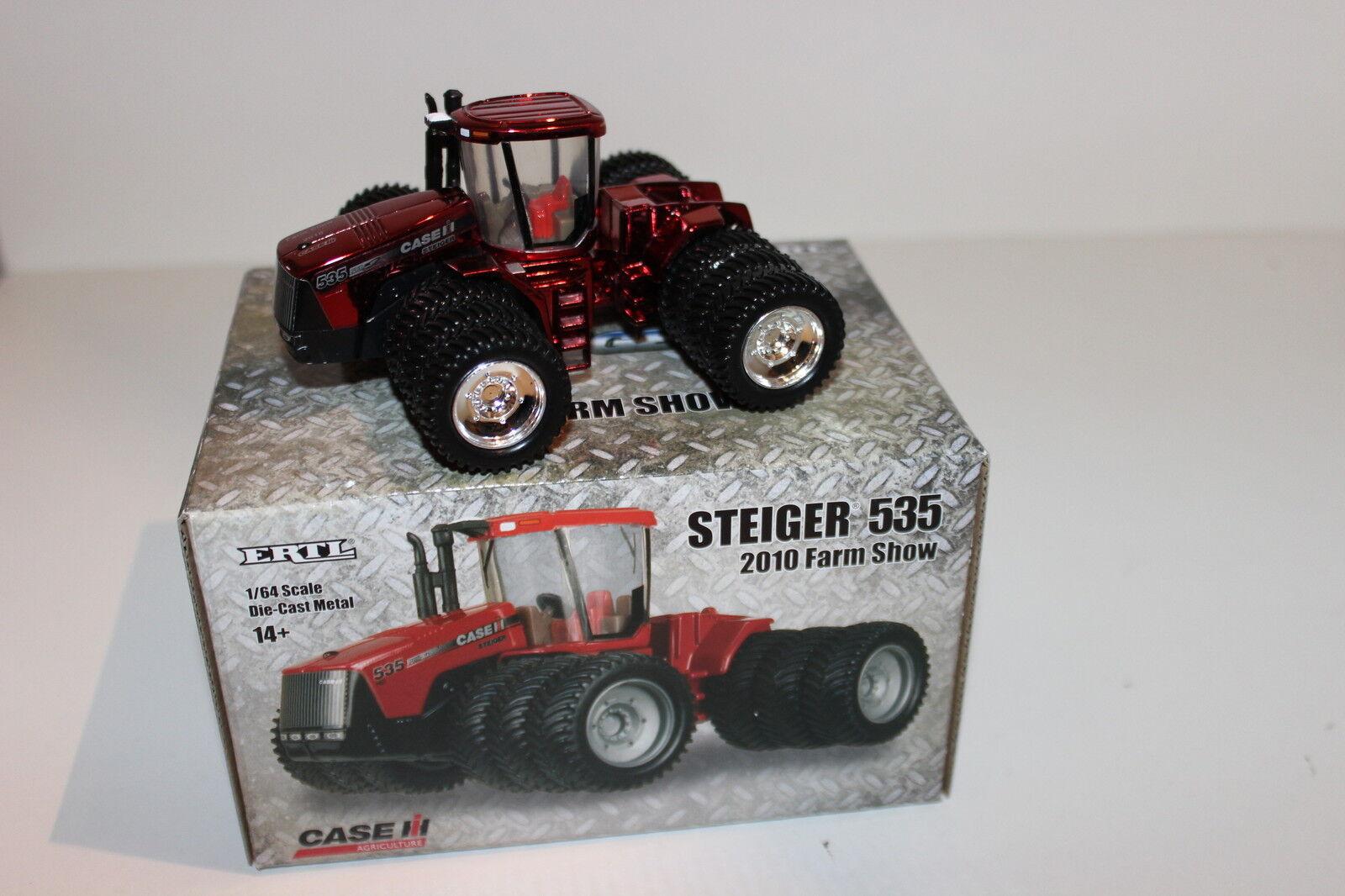 Ertl 1 64 Case IH Steiger 535 Chrome Chaser Chaser Chaser 2010 Farm Progress Show Tractor NIB e3f5e2