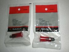 Red Neon Snap In Indicator Lamp By Radio Shack Lot Of 2