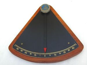 VINTAGE 12 INCH IVER C. WEILBACH SHIPS BOAT YACHT INCLINATION CLINOMETER LEVEL
