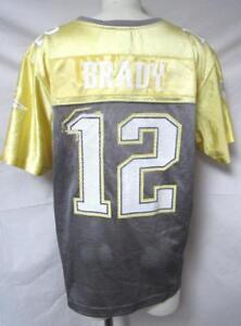 New England Patriots Womens Size 2XL Tom Brady  12 Glitter Jersey A1 ... 1b0497ec0