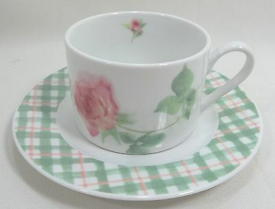 Hallmark Home Collection Cup & Saucer Set Rose Mist - White with Pink Roses