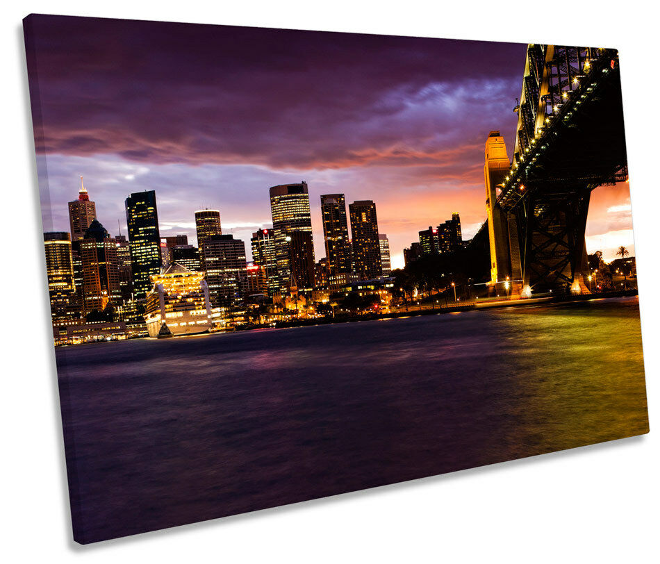 Sydney Harbour Bridge Australia SINGLE CANVAS WALL ART Box Framed