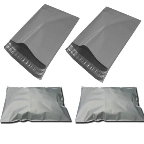200 x Cheap Grey Mailing bags Poly Mailers 9 x 12 inch bags***TRADE PRICES***