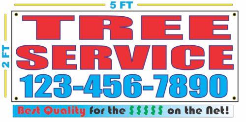 TREE SERVICE w CUSTOM PHONE Banner Sign 2x5