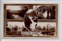 (Gh065-341) Real Photo Multi View of BOLTON ABBEY by Bramley c1920 Unused EX
