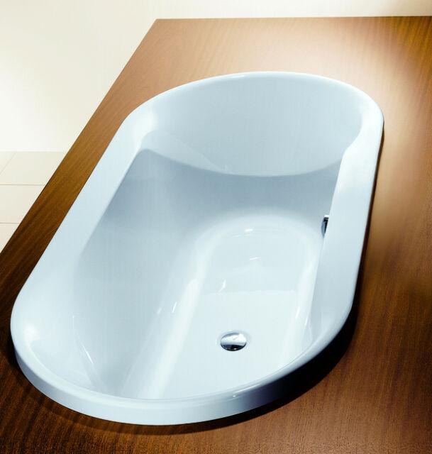 Hoesch Spectra Bathtub Oval Inset Bath 1900x800 190 Liters White ...