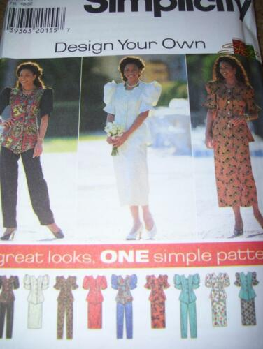 SIMPLICITY #7595 LADIES 9 STYLE SKIRT /& PANTS PATTERN  8-24FF PEPLUM TOP