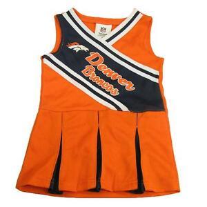 New Nfl Denver Broncos Toddler Girls Cheerleader Dress