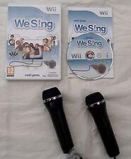 Abbiamo cantare + 2 microfoni LOGITECH NINTENDO WII PAL COMPLETO