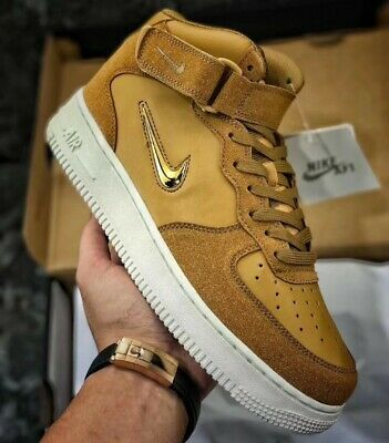 Nike Air Force 1 Mid ´07 Leather White Muted Bronze | Footshop