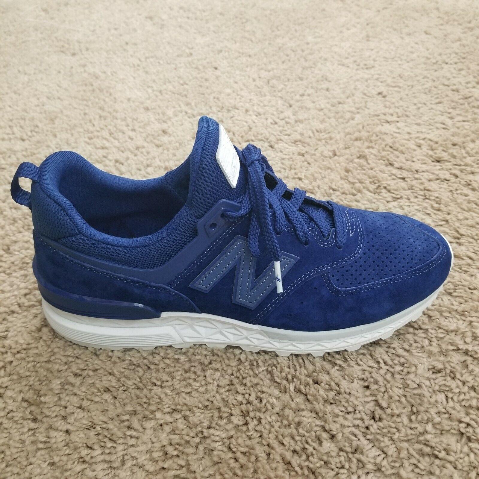 New Balance 574 Sport XMS574BLB bluee Suede shoes Men's Size 9.5