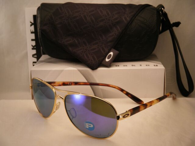 19d15fa68c Authentic Oakley Sunglasses-feedback Polished Gold violet Iridium Polarized