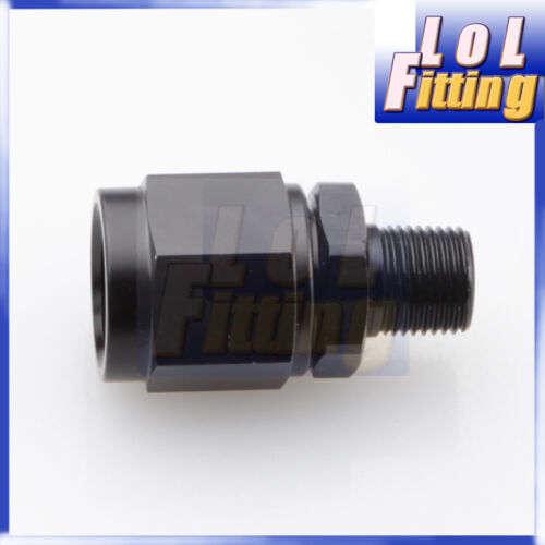 """6 AN AN6 AN-6 Fitting Adapter Swivel  Female to 1//8/"""" NPT Male Aluminum Black"""