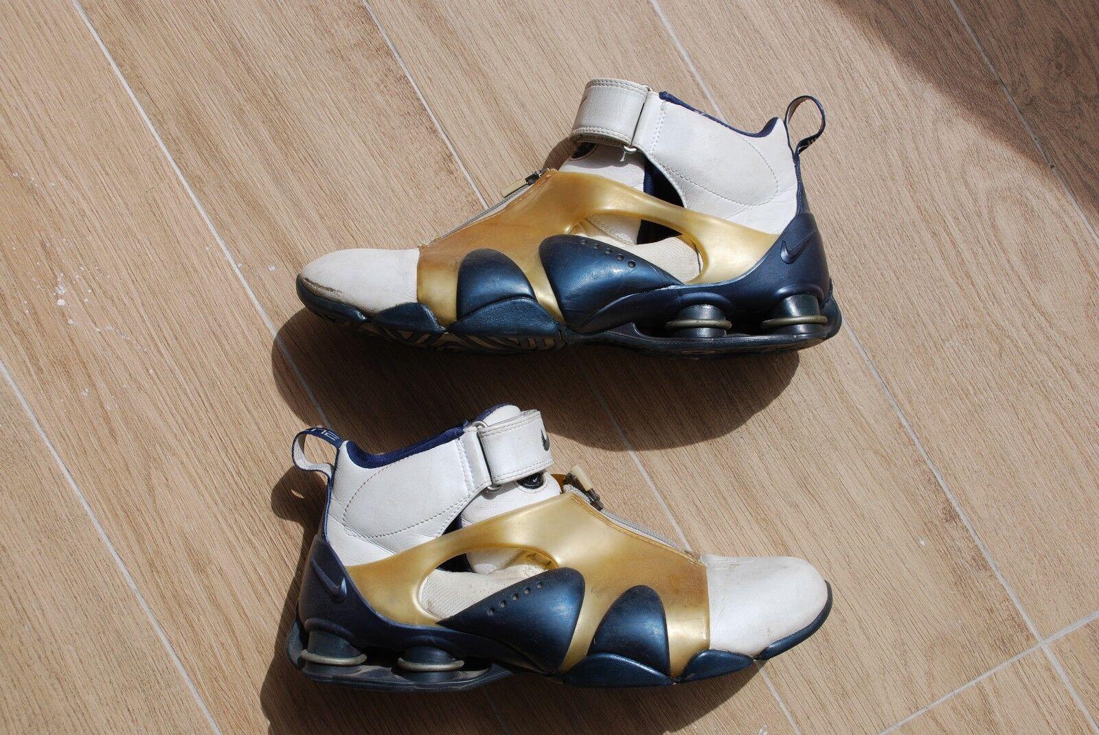RaRe 2002 Nike SHOX ELITE White And Blue US SZ 10