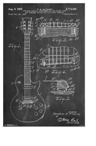 Details about ELECTRIC GUITAR ~ CHALKBOARD DIAGRAM ~ 22x34 Music Poster on
