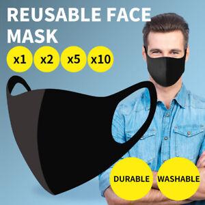 1/2/5/10Pcs Face Mask Mouth Cover Reusable Washable Unisex Masks Protective