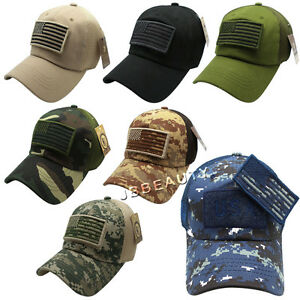 Details about USA Military Camouflage Mesh Trucker Flag Patch Army Navy  Camo Baseball Caps