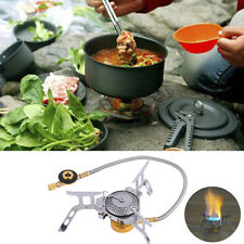 Portable Gas Stove Furnace Split Burner Outdoor Hiking Camping Picnic Cookout