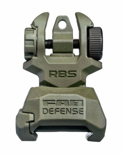 RBS S FAB Defense Green Low Profile Rear Back-up Sight made for Picatinny rail