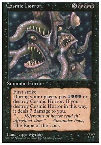 1x Cosmic Horror 4th Edition MtG Magic Black Rare 1 x1 Card Cards