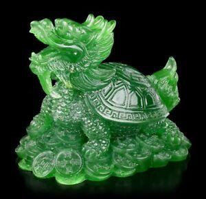 Détails sur Feng Shui Figurine - Dragon Tortue Couleur Jade - Porte-Bonheur  Idée Cadeau Déco