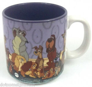 Disney-Lady-amp-The-Tramp-Coffee-Cup-Made-in-Japan-Purple-Never-Used