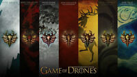 """Poster For Game of Thrones TV Show Art Silk Fabric 24x13"""" Decor 57"""