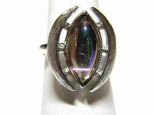 Size 6 1970s Glass Stone Ring