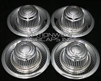 Set Of 4 Chevy Gm Rally Wheel Center Hub Caps 15x8 15x7 Rim Derby Cap Trim Rings