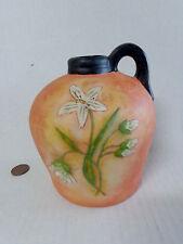 NEW Romance 'N Blooms POTTERY JUG Vase Lily Flowers Art Karen Hillard Good NIB!