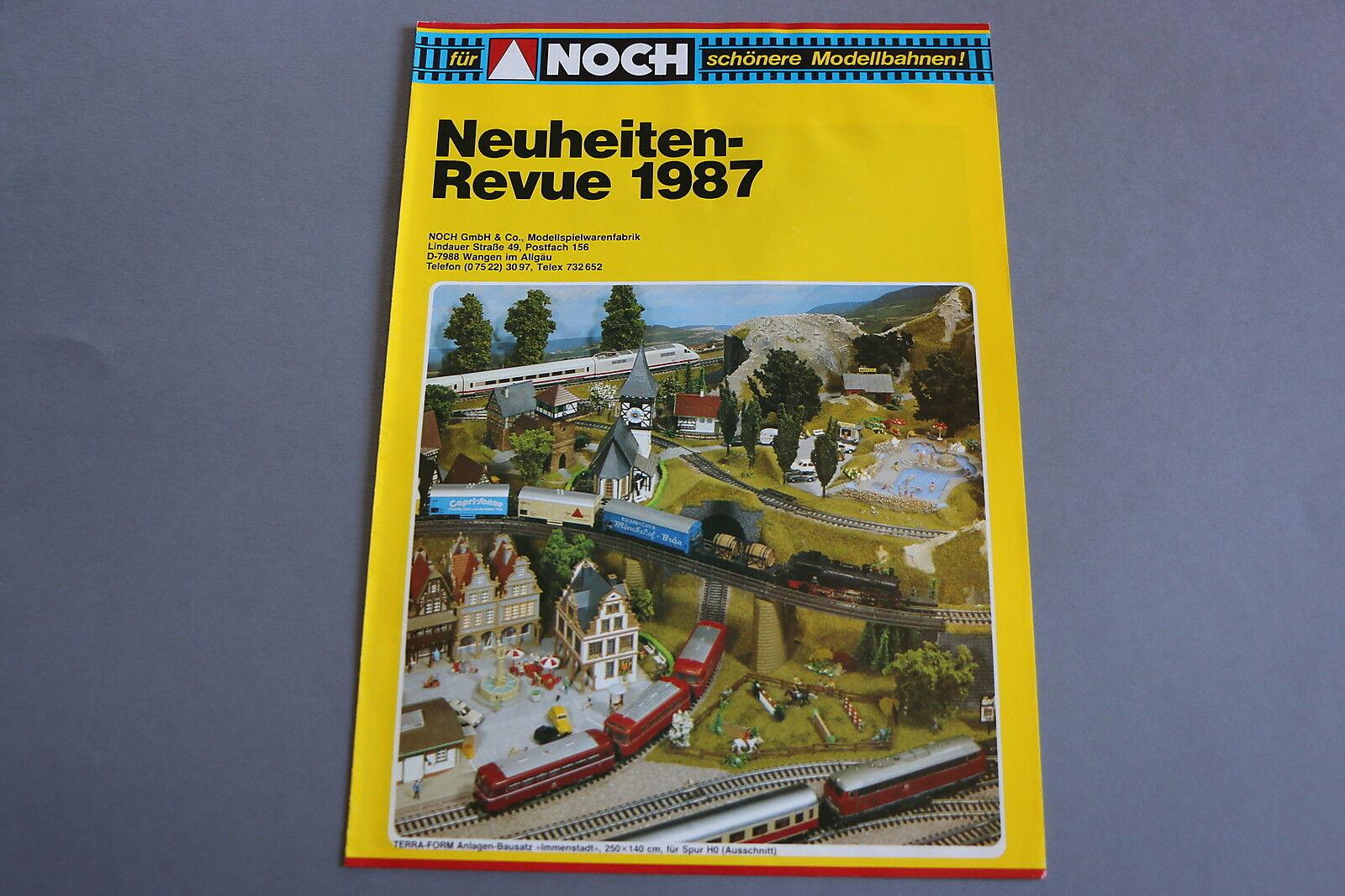 X273 NEUHEITEN Train maquette decor depliant Ho Z1987 6 pages 29,721 cm D
