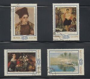 Russia-Stamps-1983-Belorussian-Paintings-4-value-set-used-cto