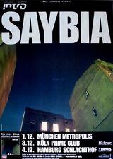 SAYBIA - 2002 - Tourplakat - In Concert - The Second You Sleep - Tourposter