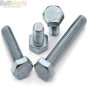 Bright Zinc Plated Washers /& Wing Nuts 10 x Set Screw Bolts M6 x 40mm
