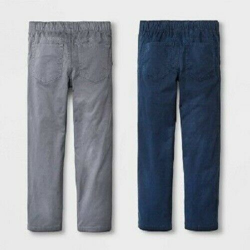 Cat /& Jack Blue//Gray Size 4 NWT Boys/' 2pk Pull-On Pants Straight