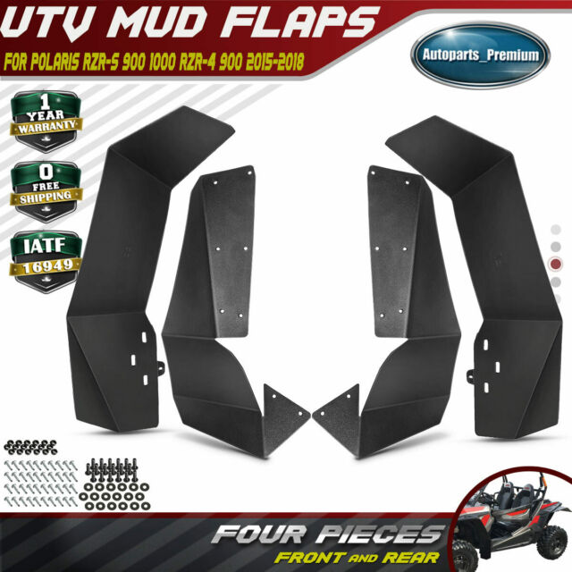 UTV Mud Flaps Splash Guard w//Fender Flares fit Polaris RZR-S900 1000 RZR-4900