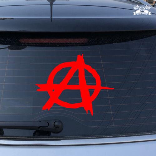 Anarchy Symbol Anarchism Car Sticker Red Vinyl Decal choose size 2/'/' 6/'/' 20/'/'