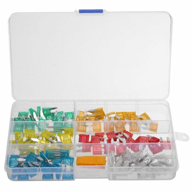 Automotive Car Fuses Truck Low-profile Micro Mini Blade Type Assorted Kit 10 15