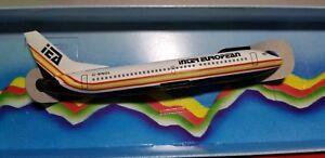 WOOSTER MODEL (W133) INTER EUROPEAN 737-300 1:200 SCALE PLASTIC SNAPFIT MODEL