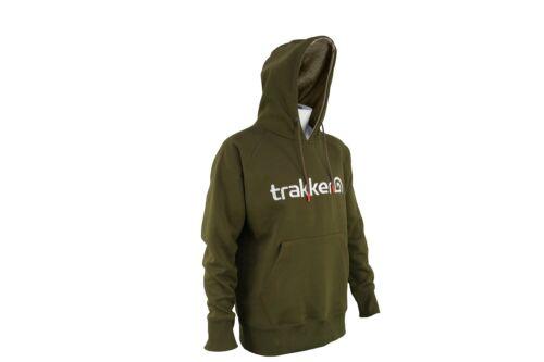 Trakker Logo Hoody Fishing Hoodie Green *All Sizes* NEW